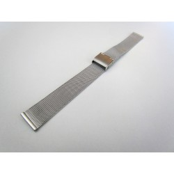 Silver Color Milanese Mesh Watch Band