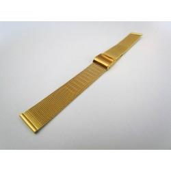Bracelet Maille Milanaise Doré pour Montre