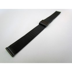 Black PVD Milanese Mesh Watch Band