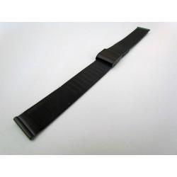 Bracelet Maille Milanaise Noir PVD pour Montre
