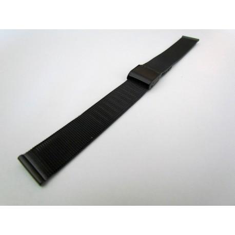 Black PVD Milanese Mesh Watch Band