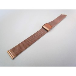 Rose Gold Color Milanese Mesh Watch Band