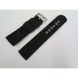 Bracelet de Montre Noir en Nylon Tressé