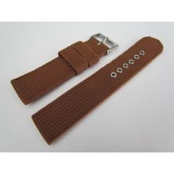 Bracelet de Montre Marron en Nylon Tressé