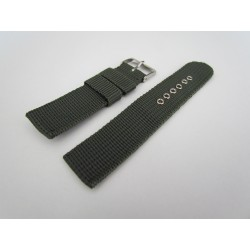Bracelet de Montre Kaki en Nylon Tressé