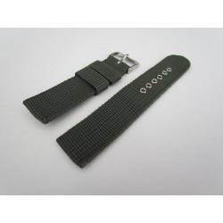 Khaki Braided Nylon Watch Strap