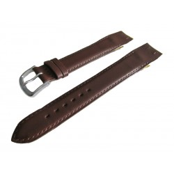 Brown Open End Leather Watch Strap