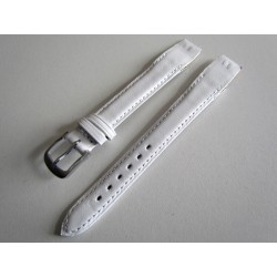 White Open End Leather Watch Strap