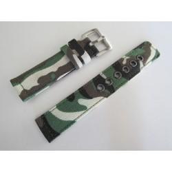 Khaki Camouflage Braided Nylon Watch Strap