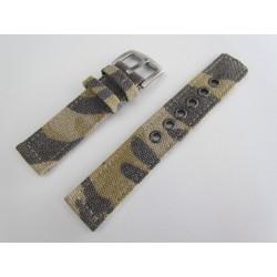Beige Camouflage Braided Nylon Watch Strap