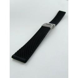 Black Silicone Strap With Folding Buckle and Mini Links pattern