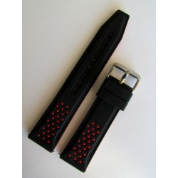 Black and Red Sporty Silicone Strap