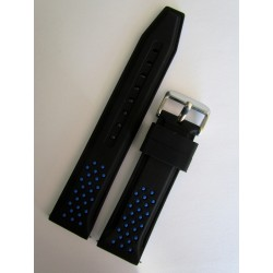 Black and Blue Sporty Silicone Strap