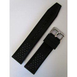 Black and Grey Sporty Silicone Strap