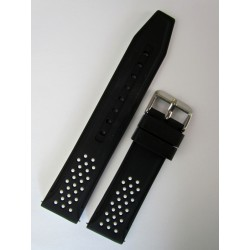 Black and White Sporty Silicone Strap