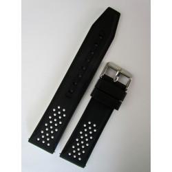Bracelet Montre Silicone Sport Noir et Blanc