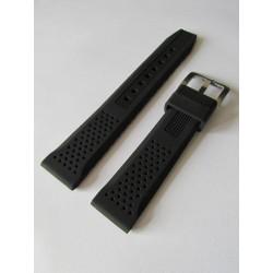 Bracelet Silicone Noir avec Effet Perforations