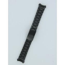 Bracelet Montre à Anses Courbes Acier Massif Coloris Noir PVD