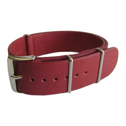 Burgundy Leather Nato Strap