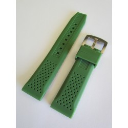 Army Green Silicone Strap with Perforation Effect