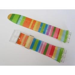 Bracelet Silicone Multicolore pour montre Swatch