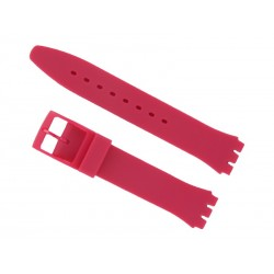 Pink Silicone Strap for Swatch Watch