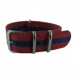 Red and Navy Blue Nato Strap