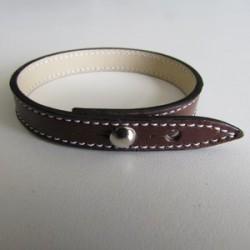 Brown Single Wrap Leather Strap
