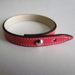 Raspberry Colour Single Wrap Leather Strap