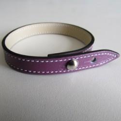 Purple Single Wrap Leather Strap