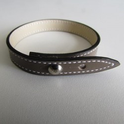 Taupe Single Wrap Leather Strap
