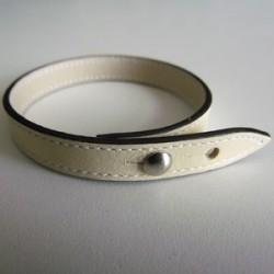 Ivory Single Wrap Leather Strap