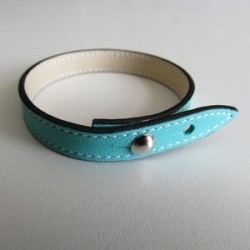 Turquoise Single Wrap Leather Strap