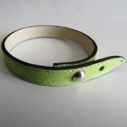Anise Green Single Wrap Leather Strap