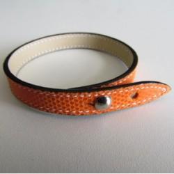 Orange Single Wrap Kidskin Leather Strap