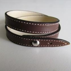 Gold Single Wrap Leather Strap