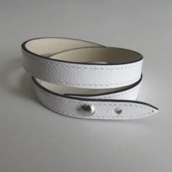 White Single Wrap Leather Strap