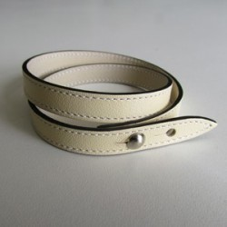 Ivory Double Wrap Leather Strap