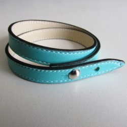 Turquoise Double Wrap Leather Strap