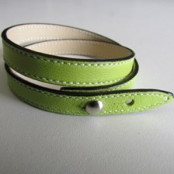 Anise Green Double Wrap Leather Strap