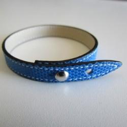 Blue Single Wrap Kidskin Leather Strap