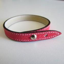 Raspberry Single Wrap Kidskin Leather Strap