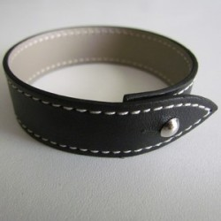 Black Single Wrap Leather Strap For Men
