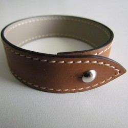 Gold Single Wrap Leather Strap For Men
