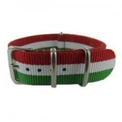 Green/White/Red Nato Strap