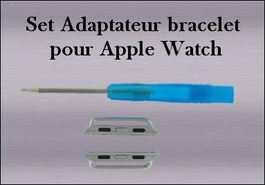 Set Adpatateur bracelet pour Apple Watch